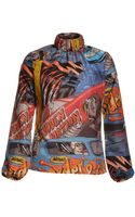 J.W. Anderson Car Print Ruched Highneck Top  - Lyst