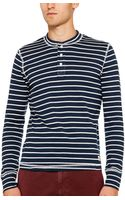 Ovadia And Sons Fine Rib Striped Henley - Lyst