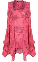 Samya Plant Print Tunic Dress - Lyst