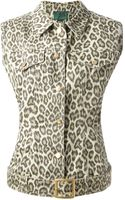 Jean Paul Gaultier Sleeveless Denim Jacket - Lyst