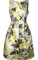Lela Rose Floral Pattern Dress - Lyst