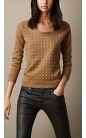 Burberry Studded Wool Blend Sweater - Lyst