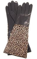 Diane Von Furstenberg Calf Hair and Leather Gloves - Lyst