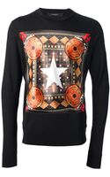 Givenchy Printed Long Sleeve Top - Lyst