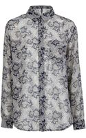 Mango Paisley Print Flowy Shirt - Lyst