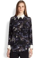 3.1 Phillip Lim Longsleeve Silk Camouflage Blouse - Lyst