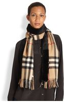 Burberry Furlined Check Scarf - Lyst