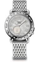 Fendi Stainless Steel Motherofpearl Round Watch - Lyst