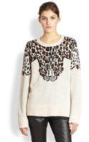 Mara Hoffman Leopard Sweater - Lyst