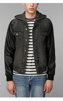 Urban Outfitters Your Neighbors Vegan Leather Sleeve Jacket - Lyst