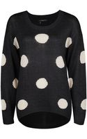 Dex Polka Dot Printed Sweater - Lyst