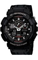 G-shock  Analog Digital Black Cloth Strap Watch - Lyst