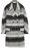 Marni Oversized Brushed Texturedweave Coat - Lyst