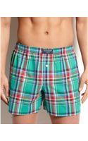 Polo Ralph Lauren Celebrity Plaid Woven Boxer - Lyst
