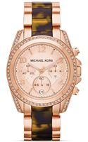 Michael Kors  Rose Golden Stainless Steel Blair Chronograph Glitz Watch - Lyst