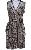 Moschino Cheap & Chic Printed Sleeveless Belted Dress - Lyst
