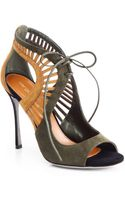 Sergio Rossi Suede Cutout Sandals - Lyst