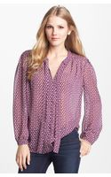Pleione Pleat Shoulder Blouse - Lyst