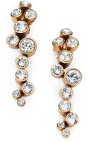 Oscar de la Renta Crystal Cluster Clipon Earrings - Lyst