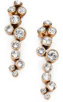 Oscar de la Renta Crystal Cluster Clipon Earrings - Lyst