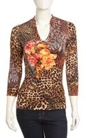 Alberto Makali Animal and Floral-print Tunic Brown - Lyst