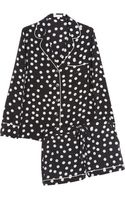 Equipment Lilian Polkadot Washed Silk Pajama Set - Lyst