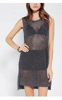 Urban Outfitters Sparkle Fade Metallic Openstich Sweater Dress - Lyst