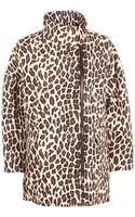 MSGM Leopard Coat - Lyst
