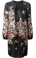 Dolce & Gabbana Floral Silk Dress - Lyst