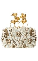 Alexander McQueen Seasonal Knuckle Box Clutch Skull Scamosciato - Lyst