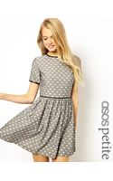 Asos Exclusive Jaquard Skater Dress with Cat Print - Lyst