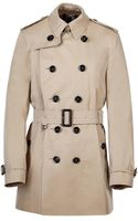 Burberry London Cotton Trench Coat in Honey - Lyst