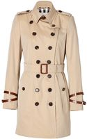 Burberry Short Cotton Queens Borough Trench in Honey - Lyst