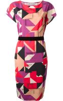 Frankie Morello Geometric Print Dress - Lyst