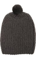 Hat Attack Fur Pom Beanie - Lyst