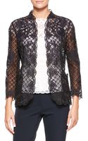 Escada Silk Lace Longsleeve Jacket Black - Lyst