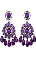 Kenneth Jay Lane Purple Chandelier Earrings - Lyst