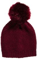 Ax Paris Asos Oversized Faux Fur Pom Beanie - Lyst