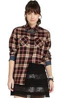BCBGeneration Plaid Buttonup Shirt - Lyst