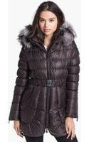 Dawn Levy Harlow Genuine Fox Fur Trim Down Coat - Lyst