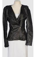 Prabal Gurung Leather Outerwear - Lyst