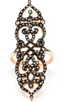 Sabine G Medieval 18k Rose Gold and Diamond Ring - Lyst