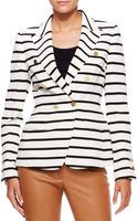 Escada Striped Nautical Blazer Off Whiteblack - Lyst