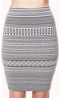 Forever 21 Blurred Lines Knee Length Skirt - Lyst
