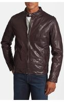 Levi's Leather Café Racer Jacket - Lyst