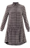 Marc By Marc Jacobs Houndstoothprint Silk Dress - Lyst