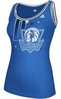 Adidas Scoop Neck Tank Top Mavericks - Lyst