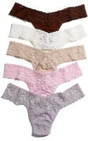 Hanky Panky Signature Lace Low Rise Thongs 5pack Set - Lyst
