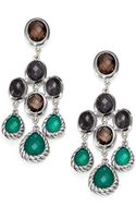 David Yurman Semiprecious Multistone Sterling Silver Chandelier Earrings - Lyst