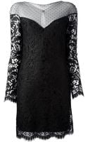 Emilio Pucci Sheer Panel Lace Dress - Lyst